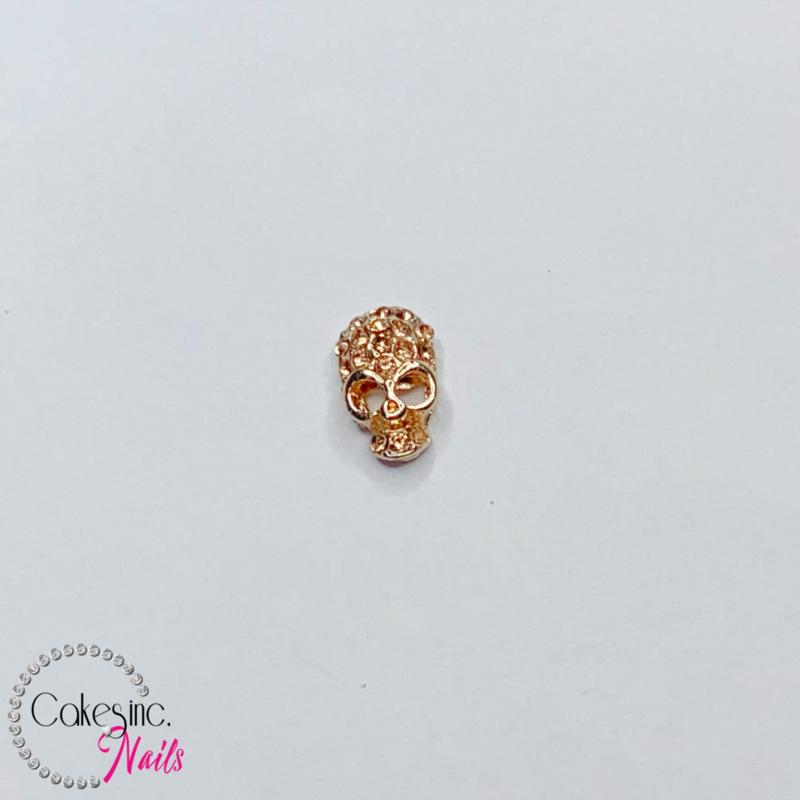 Glitter.Cakey - Rose Gold Crystals Skull Charm 'HALLOWEEN'