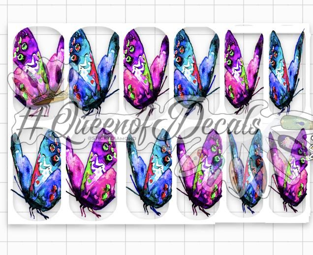 Queen of Decals - Watercolour Butterflies 'The Ultimate Collection' (full cover)