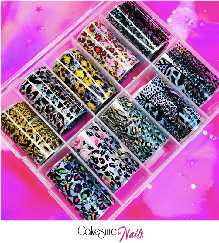 CakesInc.Nails - Transfer Foil Set #005 🦓  'Animal Prints'
