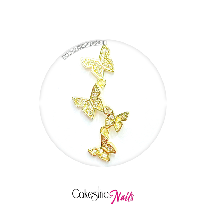 Cakey.Charms -  Luxury Butterflies 'GOLD ZIRCON'