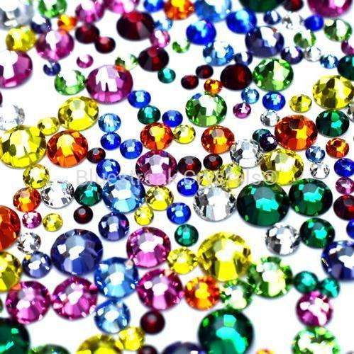 Bluestreak Crystals - Kaleidoscope Mix (Preciosa)