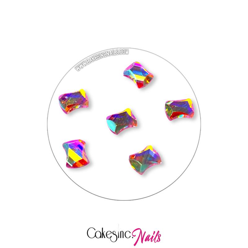 Crystal.Cakey - Curvy (3x5mm) Aurora Borealis'