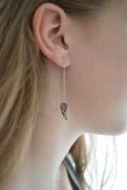 Wings earrings silver