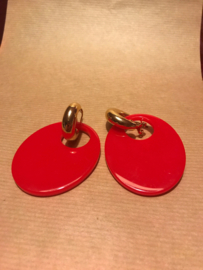 Statement earrings red