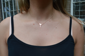 Flamingo necklace rosé
