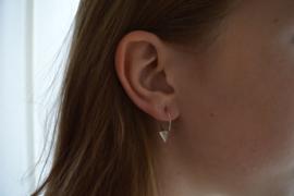 Triangle earrings silver