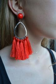 Brushes earrings red