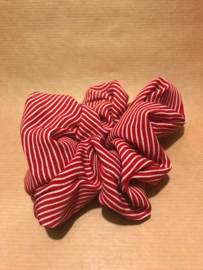 Noor Scrunchie Red Striped