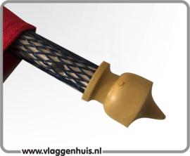 meerprijs Wimpelstokje voorzien van rubber met rubbere knopjes