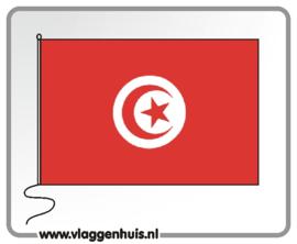Tafelvlag Tunesië 10x15 cm
