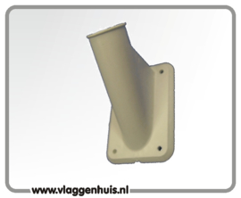 Muursteun houder PVC 30 mm