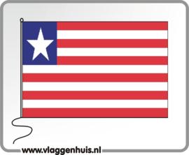 Tafelvlag Liberia 10x15 cm