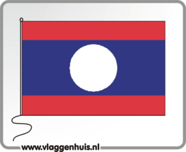 Tafelvlag Laos 10x15 cm