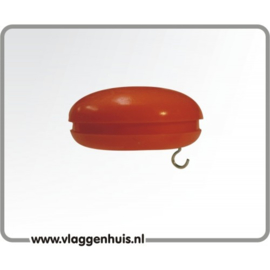 Knop rood 30 mm