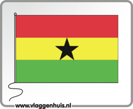 Tafelvlag Ghana 10x15 cm