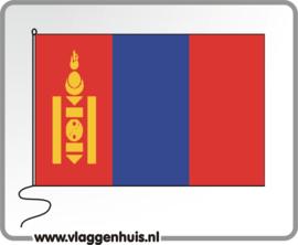 Tafelvlag Mongolië 10x15 cm