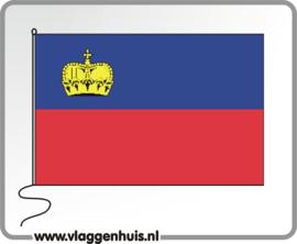 Tafelvlag Liechtenstein 10x15 cm