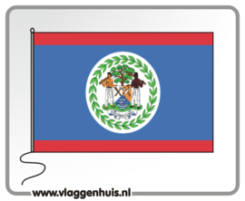 Tafelvlag Belize 10x15 cm