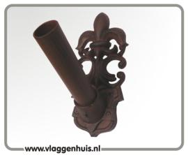 Muursteun gietijzer bruin franse lelie 30 mm