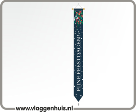 Wimpel kerst- feestdagen 300cm voor aan vlaggenmast