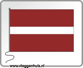 Tafelvlag Letland 10x15 cm