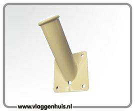 Muursteun houder Aluminium wit 30 mm