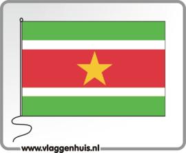 Tafelvlag Suriname 10x15 cm