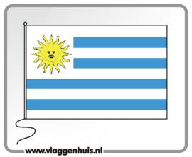 Tafelvlag Uruguay 10x15 cm