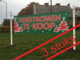 3x spandoek GROEN kerstbomen te koop