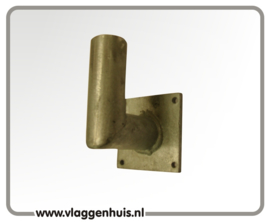 Muursteun rechtstandige houder 90º 30mm