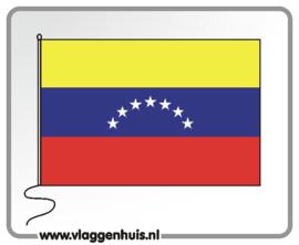 Tafelvlag Venuzuela 10x15 cm