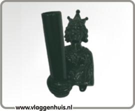 Muursteun gietijzer groen Koningin 30 mm