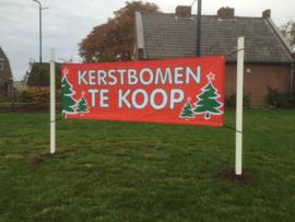 3x spandoek ROOD kerstbomen te koop
