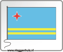 Tafelvlag Aruba 10x15 cm