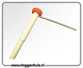 Aluminium vlaguithouder 150 cm