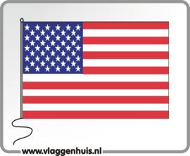 Tafelvlag USA/VS/Amerika 10x15 cm
