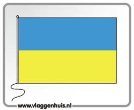 Tafelvlag Oekraïne 10x15 cm