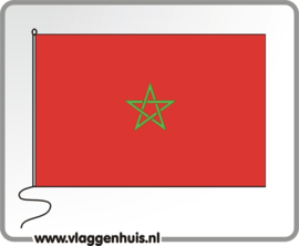 Tafelvlag Marokko 10x15 cm