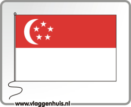 Tafelvlag Singapore 10x15 cm