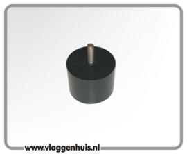 Adaptor zwart met M8 schroefdraad 60 mm