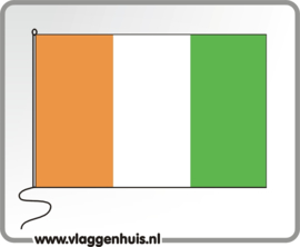 Tafelvlag Ivoorkust 10x15 cm