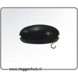 Knop zwart 30 mm