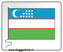 Tafelvlag Oezbekistan 10x15 cm