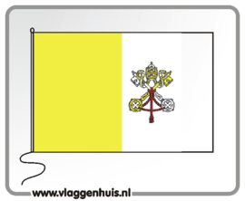 Tafelvlag Vaticaan 10x15 cm