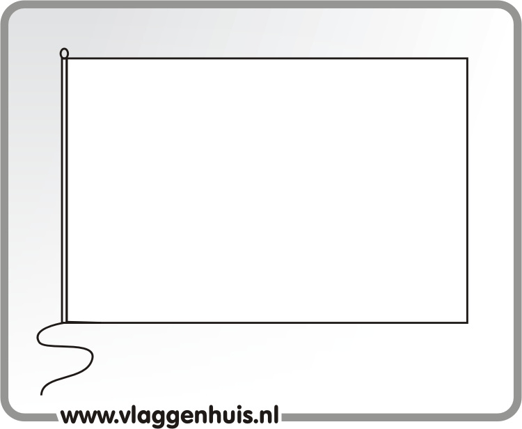 Tafelvlag effen wit 10x15 cm