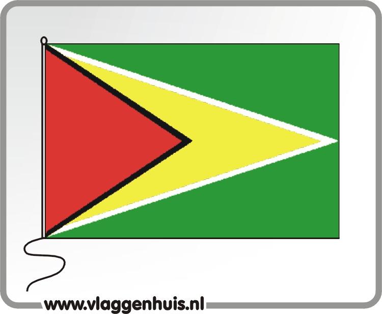 Tafelvlag Guyana 10x15 cm