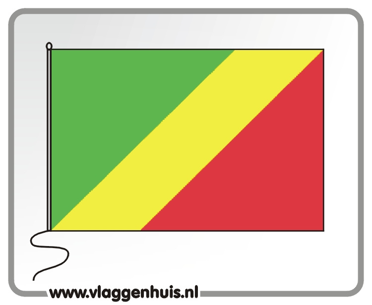 Tafelvlag Congo 10x15 cm
