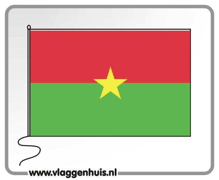 Tafelvlag Burkina Fasso 10x15 cm