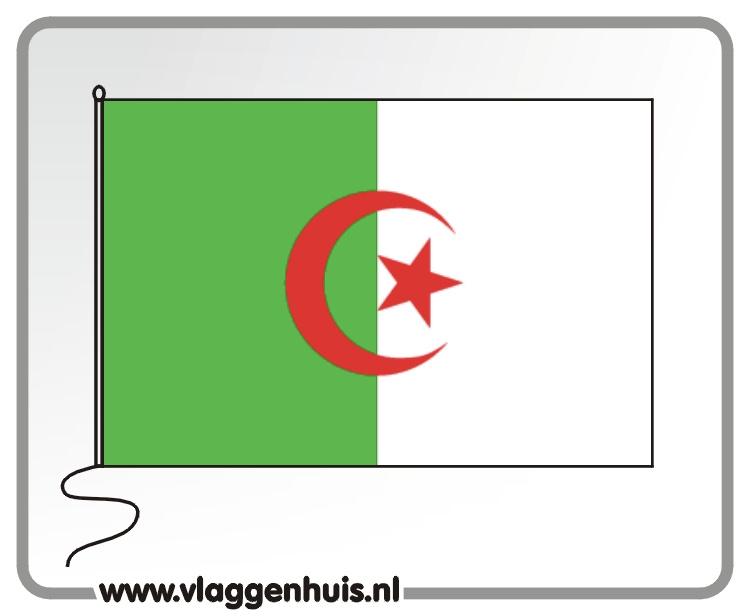 Tafelvlag Algerije 10x15 cm