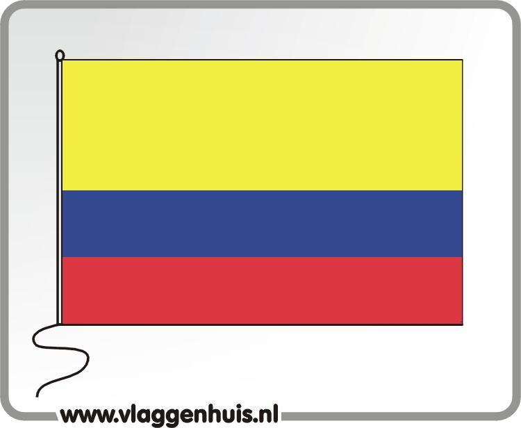 Tafelvlag Columbia 10x15 cm